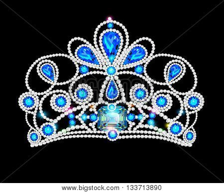 illusillustration crown tiara women with glittering precious stonestration crown tiara women with glittering precious stones