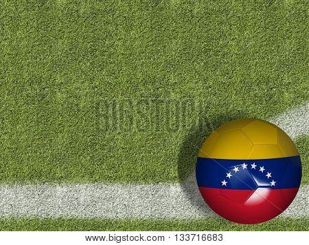 Venezuelan Ball in a Soccer Field