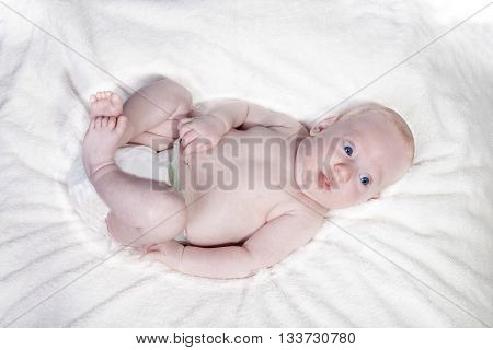 Startled Baby On A Blanket