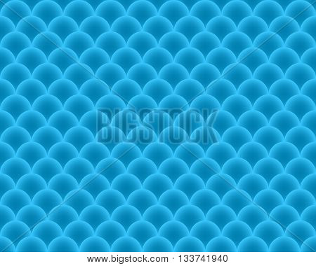 Seamless Pattern fish scales - vector abstract texture in blue color.