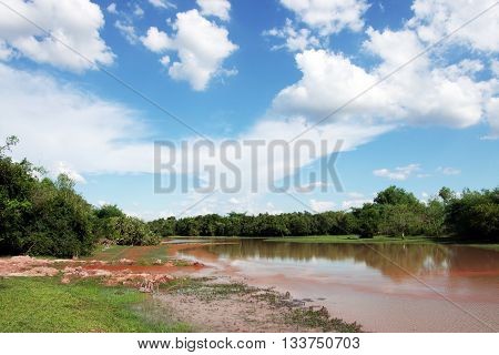 Nature of the river and the sky