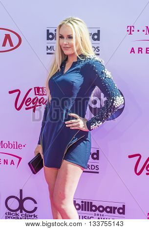 LAS VEGAS - MAY 22 : Skiier Lindsey Vonn attends the 2016 Billboard Music Awards at T-Mobile Arena on May 22 2016 in Las Vegas Nevada.