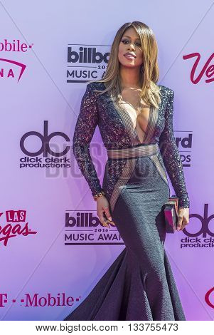 LAS VEGAS - MAY 22 : Actress Laverne Cox attends the 2016 Billboard Music Awards at T-Mobile Arena on May 22 2016 in Las Vegas Nevada.
