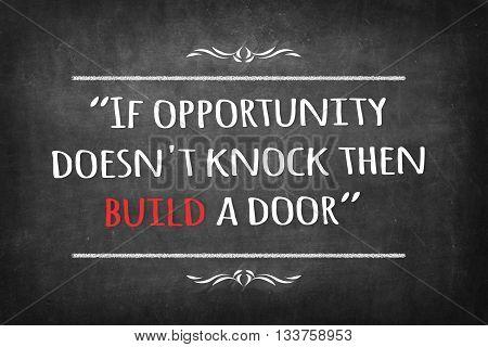 If opportunity doesn't knock then build a door on Blackboard