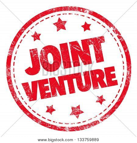 Grunge rubber stamp with text - JOINT VENTURE