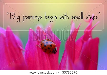 Big journeys begin with small steps motivational quote
