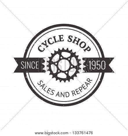 Bike badge outline vector illustration. Bike badge icon isolated. Bike logo symbol. Bike logo for bicycle design. Training concept bike badge isolated logo. Bicycle badge vector isolated
