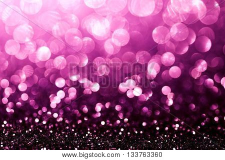 black and pink glitter bokeh texture abstract background