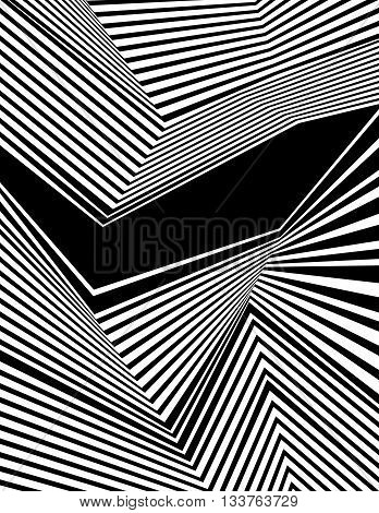 Optical Art Background, Op Art, Black And White Design