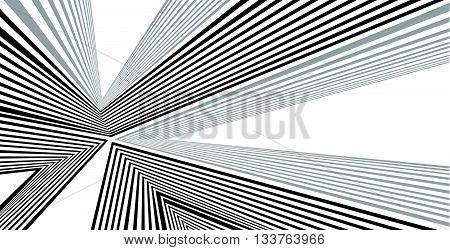 Optical Effect Mobius Wave Stripe Design Movement