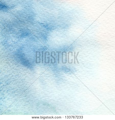 the abstract blue color watercolor textures background