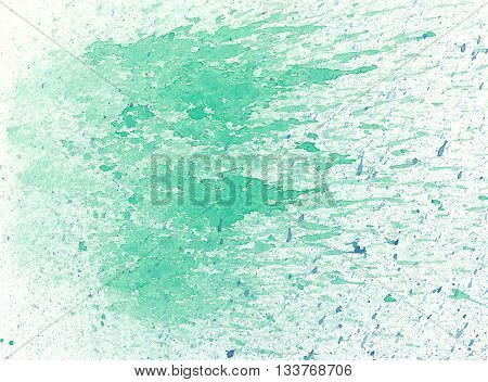 the green abstract spray splash textures background