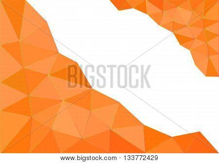 orange whie polygonal background - business design