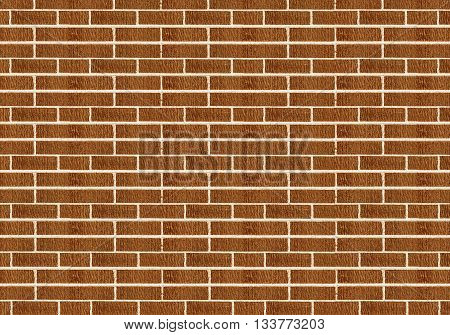 yellow brown brick wall for texture background
