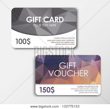 Polygonal Gift Card And Voucher