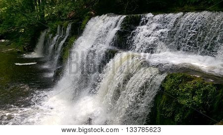 Sgwd y Pannwr Waterfall in the Brecon Beacons National Park, Wales, UK