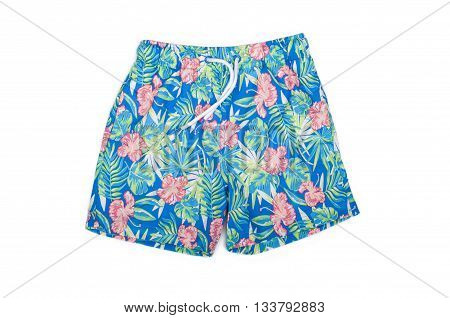 shorts for swimming on a white background isolated