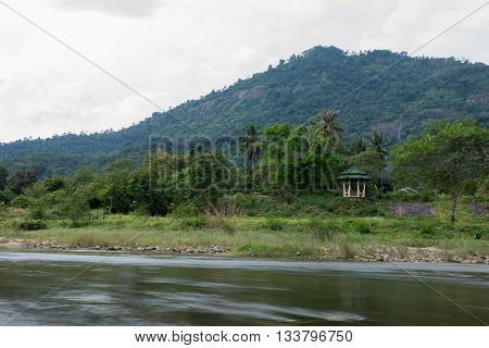image of Brook and rocks in the mountains at Kiriwong village Nakorn Sri Thammarat Thailand.