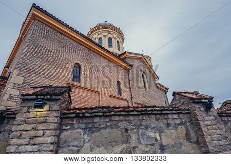 Gori Georgia - April 23 2015. View on Cathedral of Gori city
