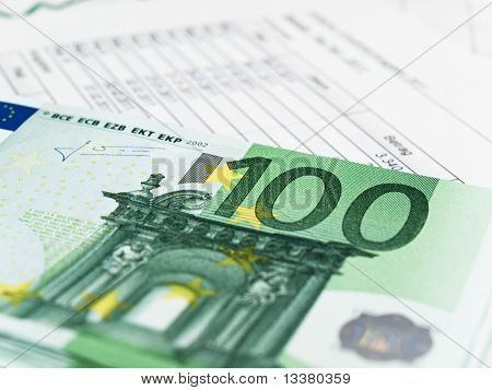 One Hundred Euros With A Balance Sheet
