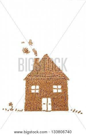 from pellets for heating house