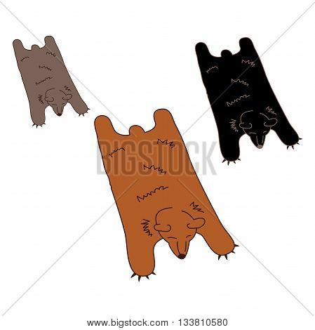 Faux Bear Skin Rug in 3 Natural Colors