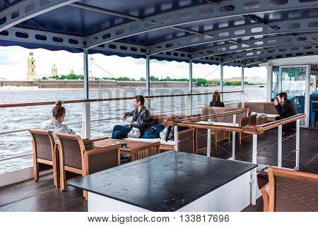 Tourist On Ship Deck