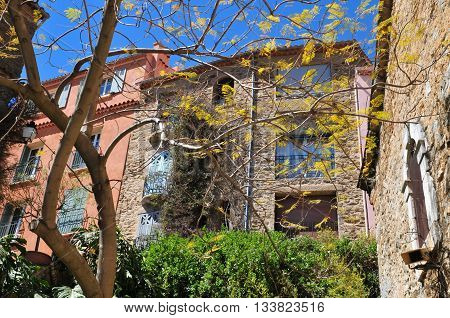 Bormes les Mimosas France - april 18 2016 : the picturesque old village in spring