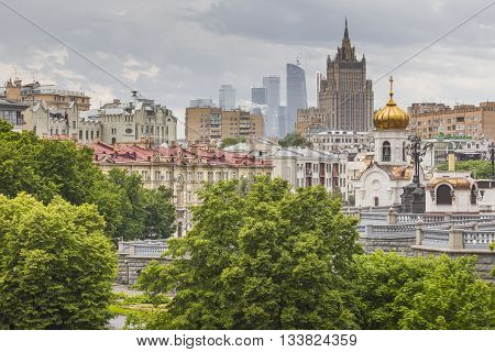 Moscow - June 04, 2016: Moscow-city (moscow International Business Center) . Moscow-city Is A Modern