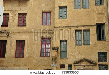 Valence France - april 13 2016 : the picturesque city in spring