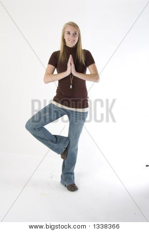 Joelee In A Yoga Pose