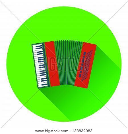 Accordion icon. Flat design in UI colors. Vector illustration.