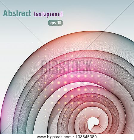 Abstract Technology Background Vector Wallpaper. Stock Vectors Illustration. Pink, Gray, Orange Colo