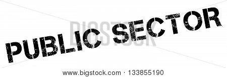 Public Sector Black Rubber Stamp On White