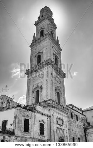 Tower Of Lecce Cathedral, Iconic Landmark In Salento, Italy