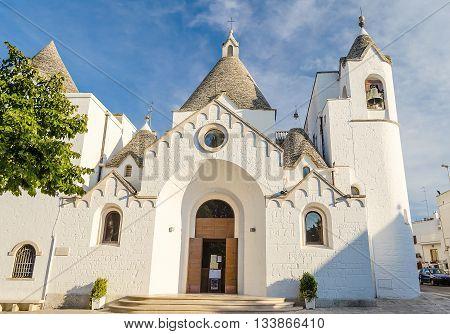 The Trullo Church In Alberobello, Apulia, Italy