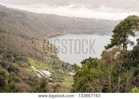 Lake Nemi On The Alban Hills, Italy