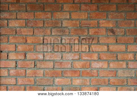 Old brick wall of vintage texture background