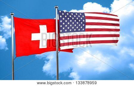 switzerland flag, 3D rendering