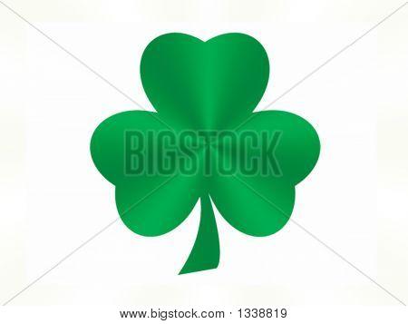 Green Satin Shamrock