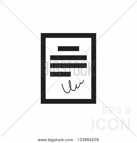 Black Agreement Icon In Flat Style