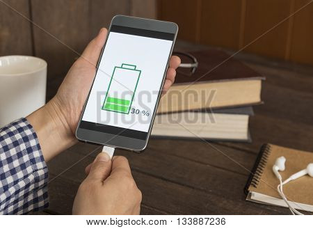 Hipter is plugged in to charging mobile smartphones.