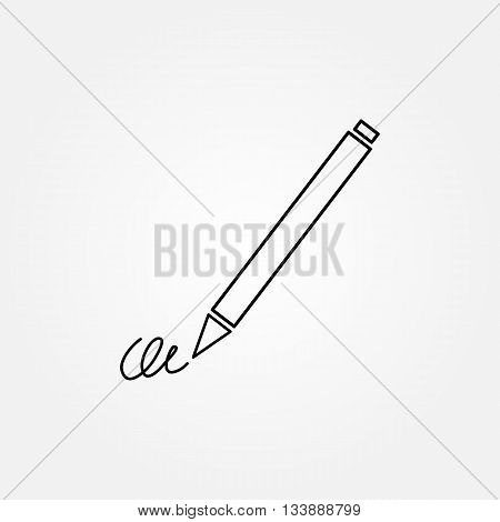 The Signature, Pen, Undersign, Underwrite, Ratify Simple Icon