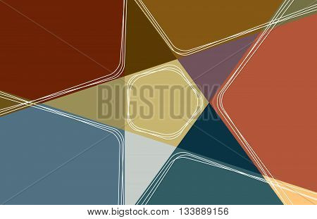 Color Star with Earth Tones. Vector illustration