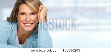 Beautiful elderly woman portrait.