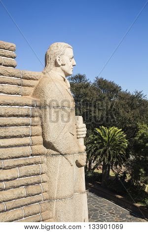 South Africa Pretoria - 28 June 2016: Voortrekker monument. It was raised to commemorate the Voortrekkers who left the Cape Colony in the 19th century. National Heritage Site.