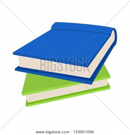 Two books icon in cartoon style on a white background