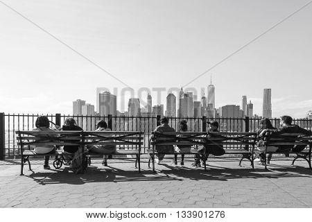 Manhattan Skyline From Brooklyn Heights Promenade