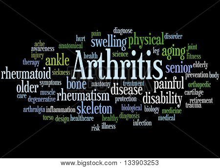 Arthritis, Word Cloud Concept 4