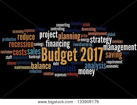 Budget 2017, Word Cloud Concept 6